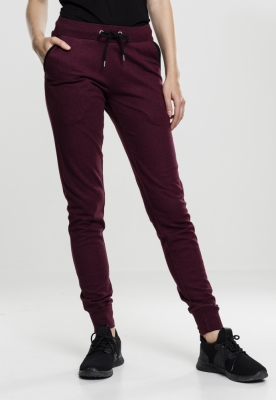 Pantaloni jogger Athletic pentru Femei rosu-burgundy Urban Classics negru