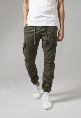 Pantaloni jogging Camo Cargo oliv-camuflaj