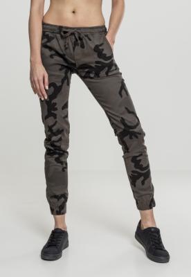 Pantaloni jogging Camo pentru Femei inchis-camuflaj