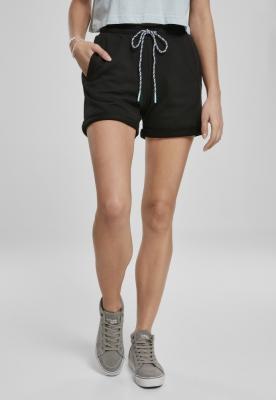 Pantaloni scurti Beach Terry pentru Femei negru Urban Classics