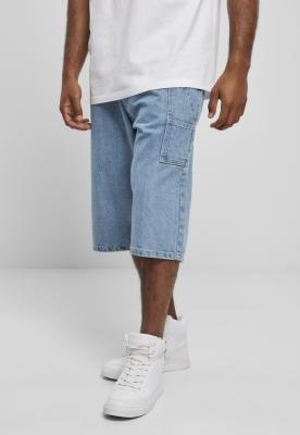 Pantaloni scurti blugi Southpole cu Tape mid-albastru