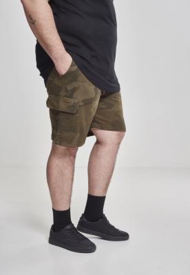 Pantaloni scurti Camo Cargo Terry oliv-camuflaj