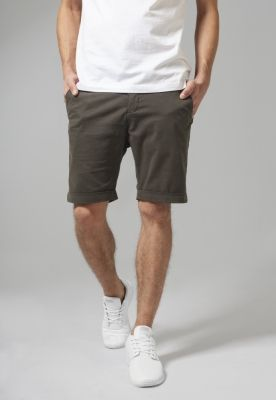 Pantaloni scurti chino stretch oliv inchis Urban Classics