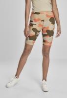 Pantaloni scurti cu talie inalta Camo Tech Cycle pentru Femei brick-camuflaj Urban Classics