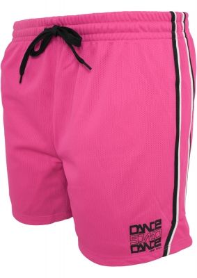 Pantaloni sport din plasa pentru femeie Dance roz-negru Urban Dance