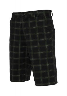 Pantalon scurt in carouri negru-gri Urban Classics