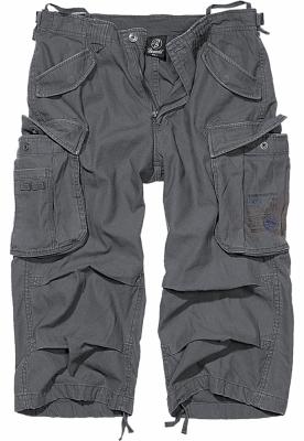 Pantaloni scurti Industry Vintage Cargo 34 gri carbune Brandit