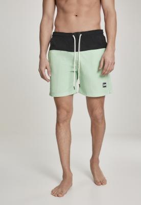 Pantaloni scurti inot negru-neomint Urban Classics