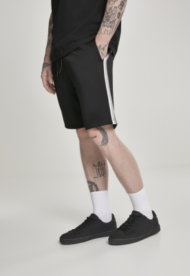 Pantaloni scurti Side Taped Track negru-gri Urban Classics