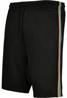 Pantaloni scurti Side Taped Track negru-multicolor Urban Classics
