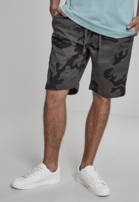 Pantaloni scurti sport Camo gri-camuflaj Urban Classics
