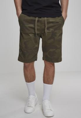 Pantaloni scurti sport Camo oliv-camuflaj Urban Classics