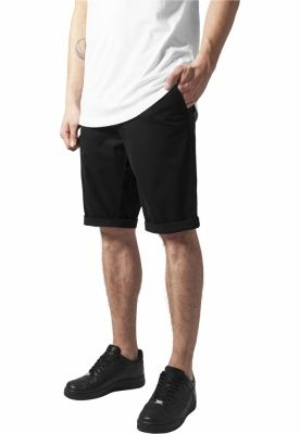 Pantaloni scurti chino stretch negru Urban Classics