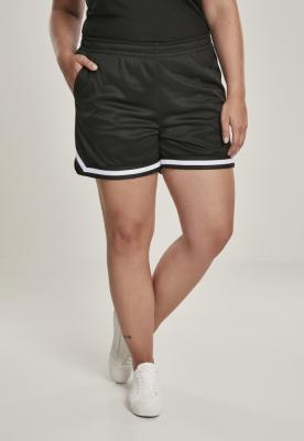 Pantaloni scurti Stripes plasa pentru Femei negru Urban Classics