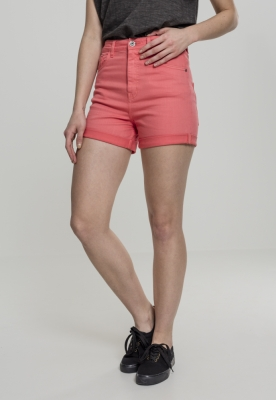 Pantaloni scurti talie inalta Stretch Twill pentru Femei coral Urban Classics