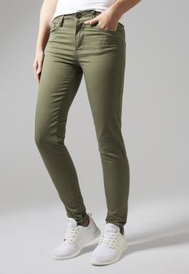 Pantaloni Skinny pentru Femei oliv Urban Classics