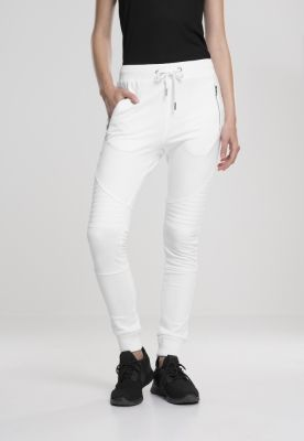 Pantaloni sport biker dama alb-alb Urban Classics