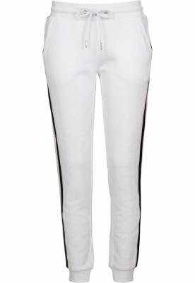 Pantaloni sport College contrast pentru Femei alb-negru Urban Classics