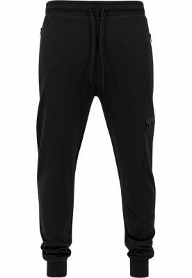 Pantaloni sport conici cu snur Athletic negru Urban Classics