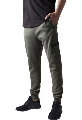 Pantaloni sport conici cu snur Athletic oliv Urban Classics