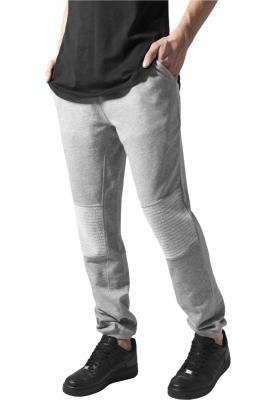 Pantaloni sport cu turul jos Terry Biker gri Urban Classics