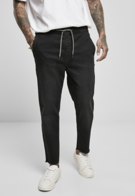 Pantaloni sport denim negru Urban Classics