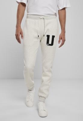 Pantaloni sport Frottee Patch gri-deschis Urban Classics