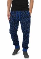 Pantaloni sport imprimeu zebra albastru roial-negru Urban Classics