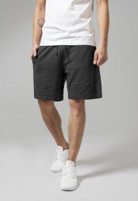 Pantaloni sport scurti Interlock gri carbune