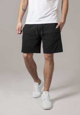 Pantaloni sport scurti Interlock negru Urban Classics