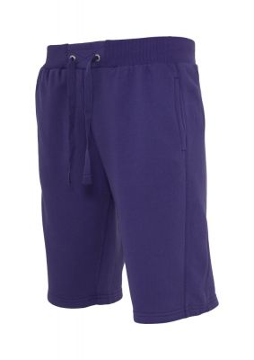 Pantaloni sport scurti Light Fleece mov Urban Classics