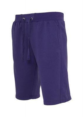 Pantaloni sport scurti Light Fleece mov Urban Classics