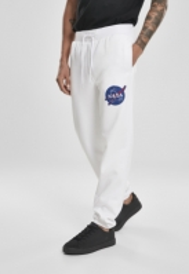 Pantaloni sport Southpole NASA Insignia Logo alb