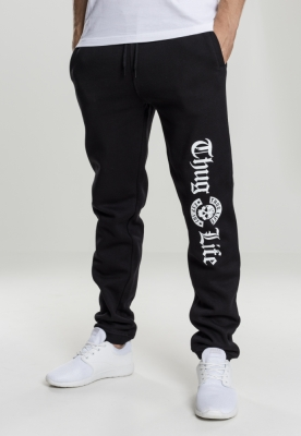 Pantaloni sport Thug Life Old English negru