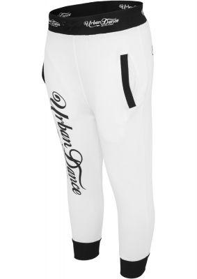 Pantaloni trei sferturi sala cu imprimeu pe spate alb-negru Urban Dance