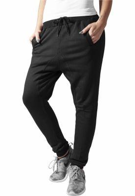 Pantaloni trening dama cu turul lasat black Urban Classics