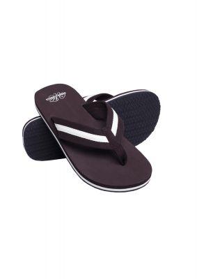 Papuci de plaja maro-alb Urban Classics