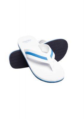 Papuci de plaja alb-turcoaz Urban Classics