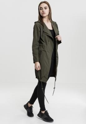 Parka model asimetric pentru Femei oliv inchis Urban Classics