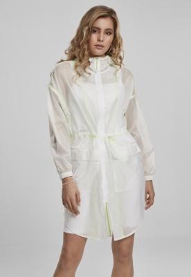 Pelerina subtire transparenta pentru Femei alb-verde Urban Classics