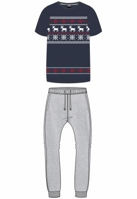 Pijamale Craciun Norwegian midnightnavy-gri Urban Classics
