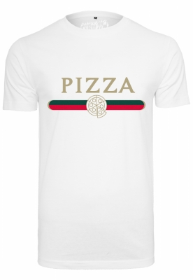 Tricou Pizza Slice alb Mister Tee