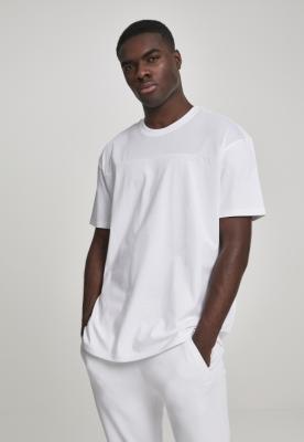 Tricou plasa Panel alb Urban Classics