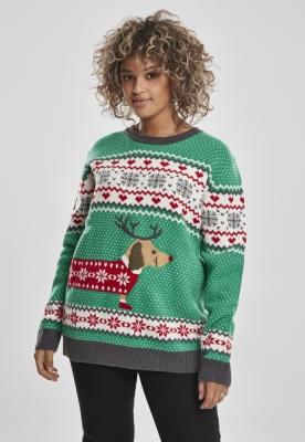 Sausage Dog Christmas Sweater dama Urban Classics