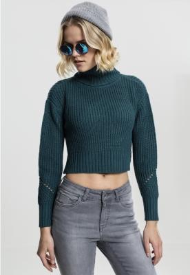 Pulover helanca mai lung in spate pentru Femei bleu Urban Classics