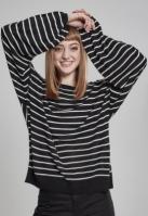 Pulover lejer cu dungi pentru Femei negru-alb Urban Classics