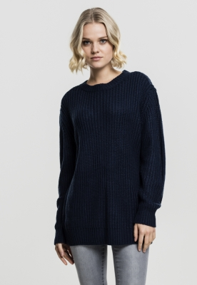 Pulover model clasic pentru Femei bleumarin Urban Classics