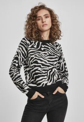 Short Tiger Sweater dama Urban Classics