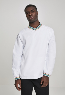 Pulover Warm Up alb-multicolor Urban Classics