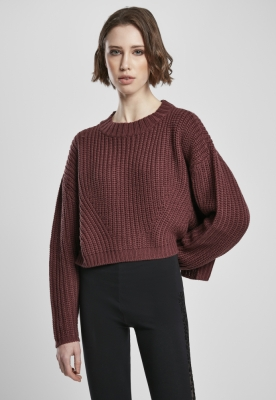 Pulover Wide lejer pentru Femei rosu Urban Classics